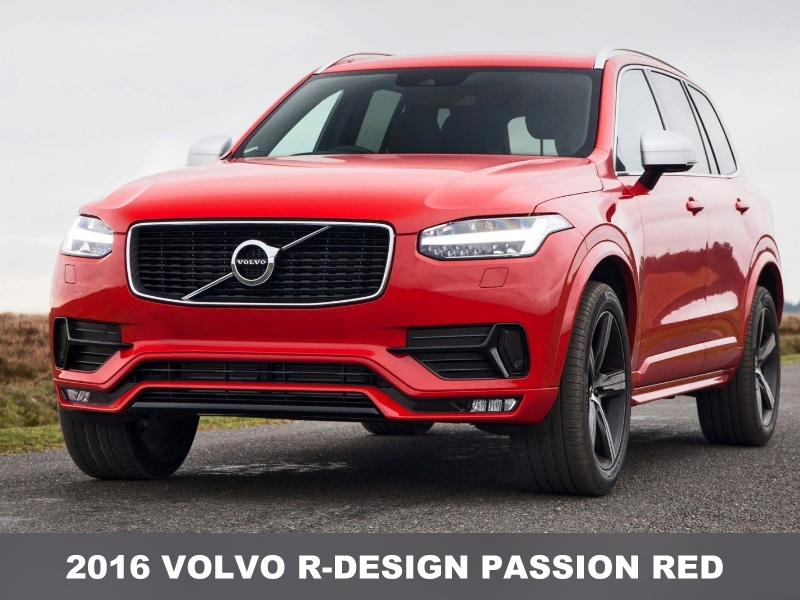 Volvo Image Gallery: 2016 Volvo XC90 R-Design Passion Red