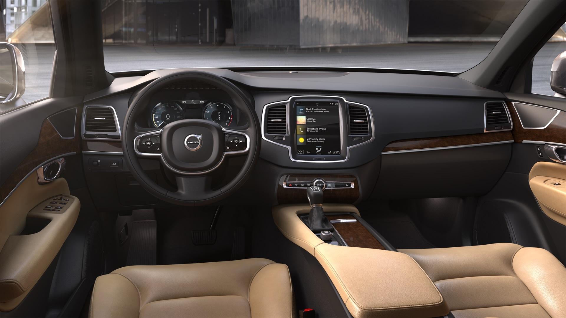 2019 volvo xc90 t6 awd momentum amber leather interior a 2019 volvo xc90 t6 awd momentum amber